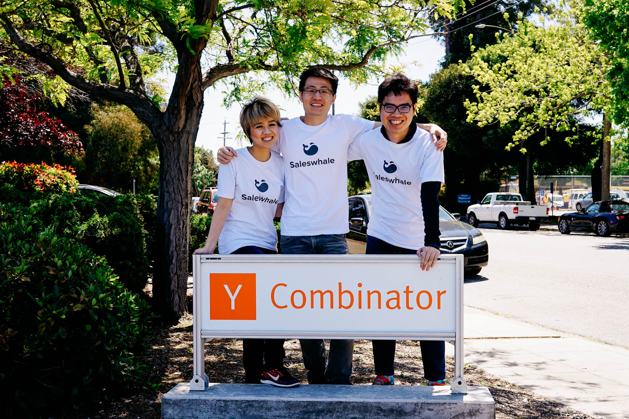Saleswhale founders Venus Wong, Gabriel Lim, and Ethan Le