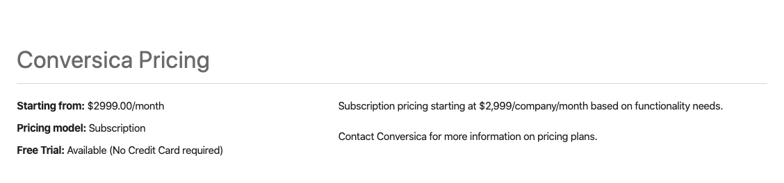 How much does Conversica cost - Conversica pricing