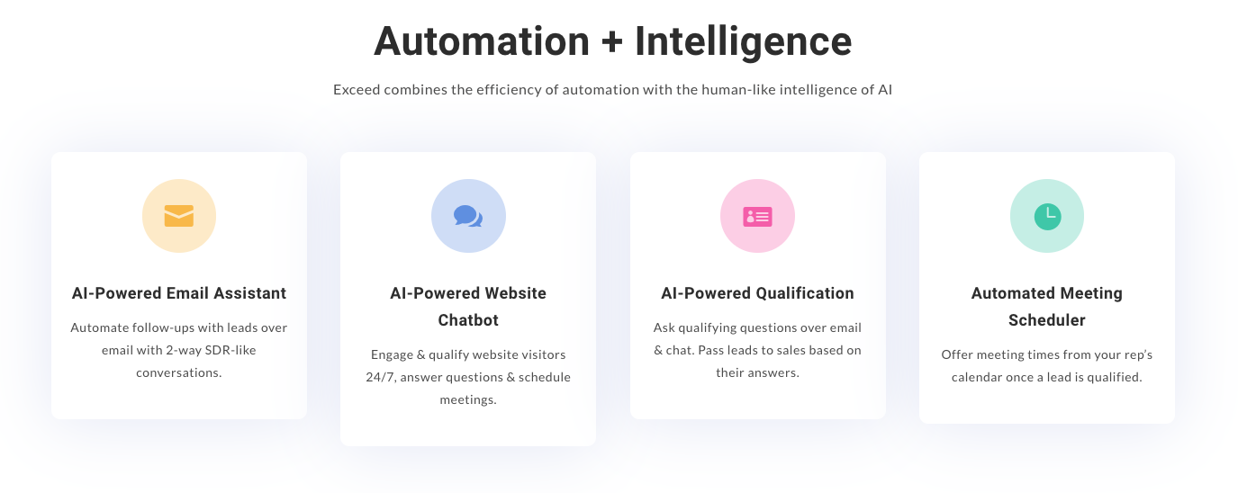 Exceed.ai review - functionality