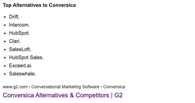 Top alternatives to Conversica
