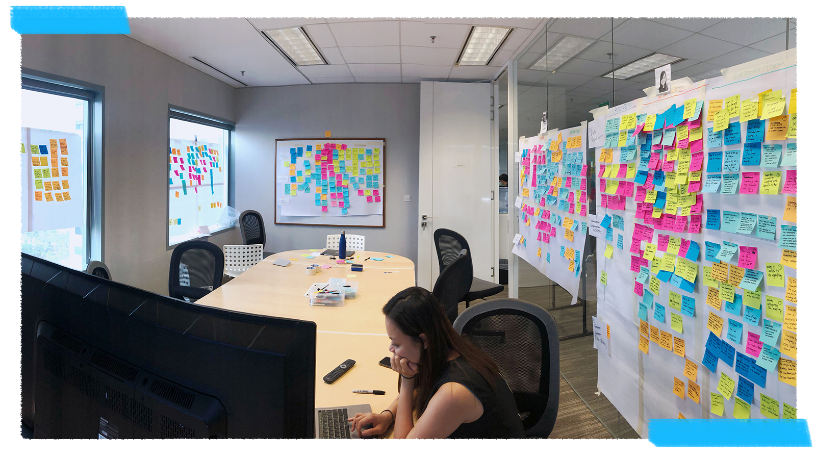Reveal team meeting sticky notes